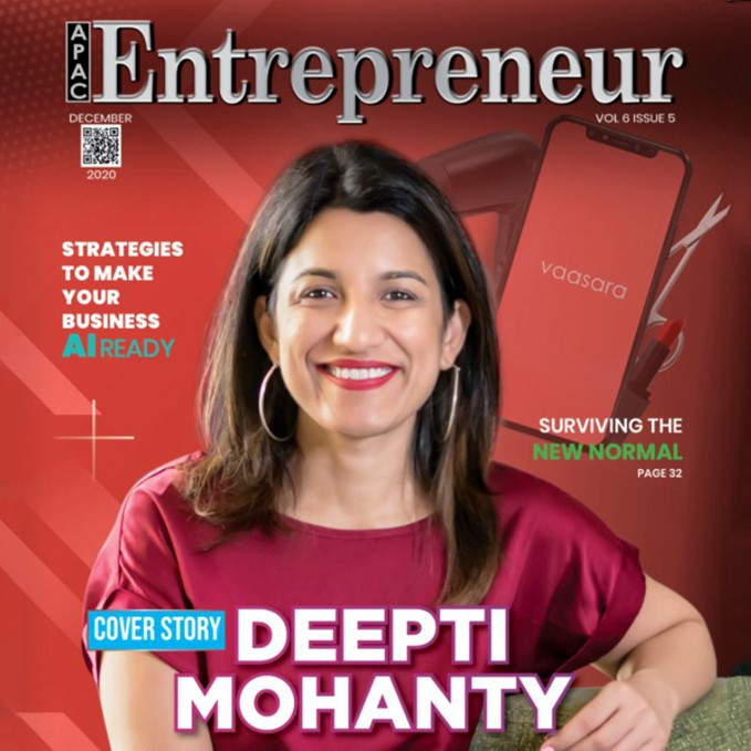 Deepti Mohanty, Founder and CEO of Vaasara, recognized as one of the 10 most innovate leaders of UAE 2020